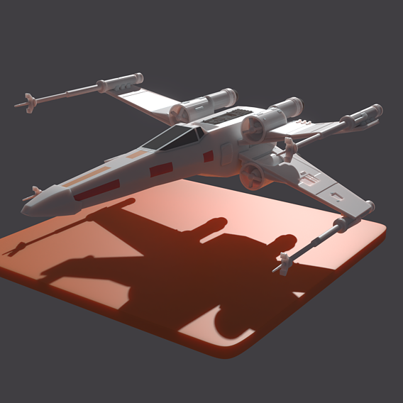 Toy looking X-Wing