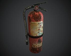 Old Fire Extinguisher 3D asset