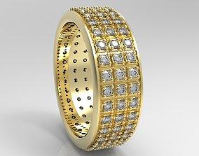 3D print model eternity diamond band ring engagment