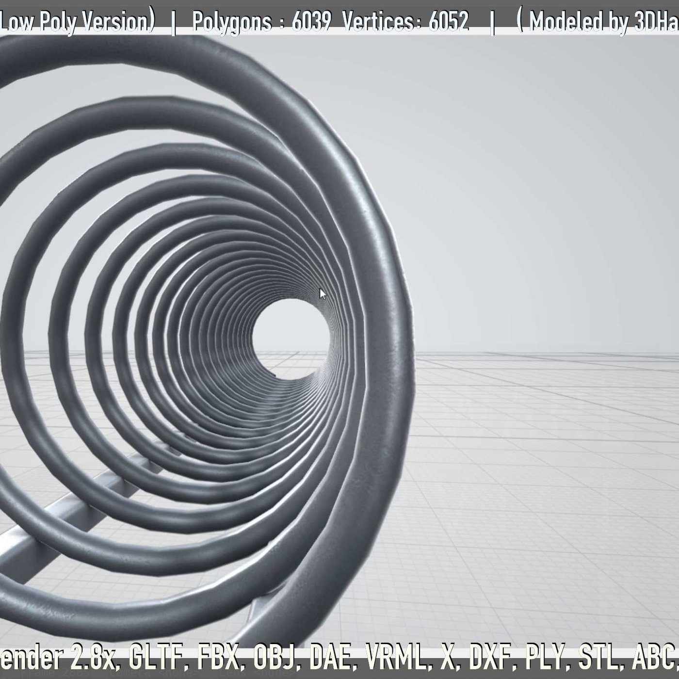 Low-poly version of the spiral bike stand [2]