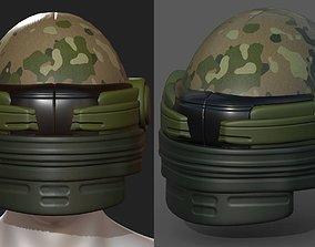 3D asset Helmet plastic mask protection pollution 1