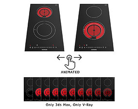 3D model Animated electric hob iQ300 ET375FFP1E 300 mm by