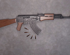 AK47-With Bullets 3D model