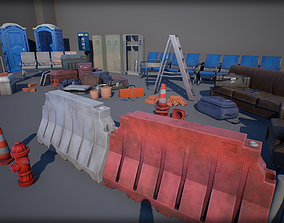 Industry Props Pack 2 3D asset game-ready