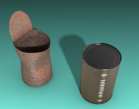 3D asset 2 Cans