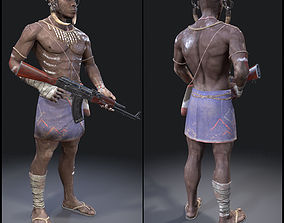 3D asset African Character