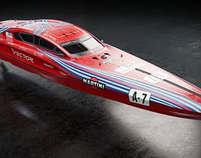 Vector V40R Martini Racing x Porsche offshore powerboat 3D