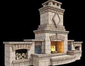 Outdoor Fireplace 002 3D model