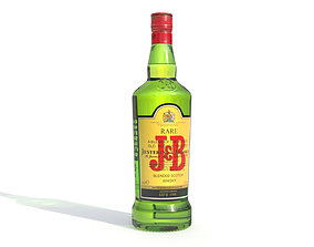 JB alcohol whiskey Bottle 3D asset