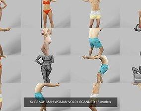 5x BEACH MAN WOMAN VOL01 SCANNED 3D model