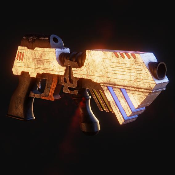 Scifi Gun Pbr Gameready Asset