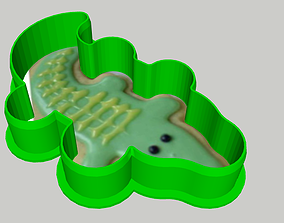 3D print model Crocodile Cookie Cutter dining
