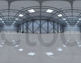 3D HDRI - Airplane Hangar Interior 3