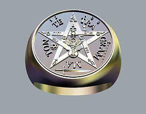 Tetragrammaton Ring 3D printable model