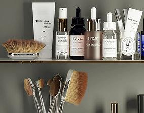 3dasset skincare products shelf