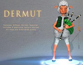 Dermut Sheep Bagpiper 3D asset