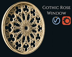3D model PBR sculpture Gothic Rose Window