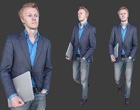 Businessman Walking 3D asset