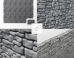 Stone panel brick n4 3D model