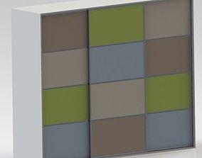 3D model Colorful kids closet