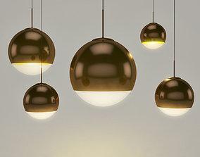 3D model Tom Dixon Ball Gold pendant lamp
