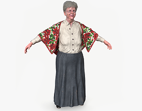 3D asset Grandma lowpoly