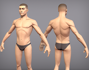3D model Game ready male character Titus