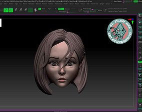 alita head sculpt 3D printable model