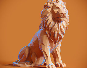 figurines 3D printable model Low poly Lion