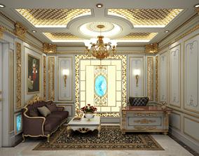 Classic Room 3D model indoors