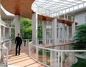 Atrium office building U 3D