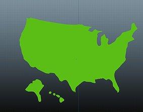 3D USA map symbol