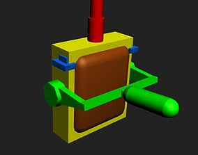 VR / AR ready Toggle switch 3D Model Game ready