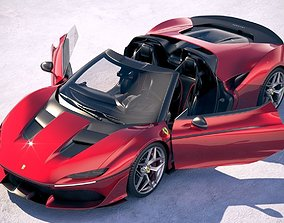 3D Ferrari J50 2017 openable doors