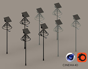 game-ready Road urban street light 3D model Solar battery