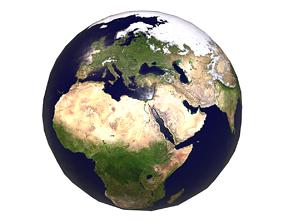 PBR World Map 3D model