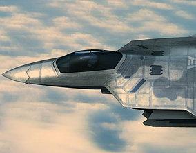 3D model F22A Raptor