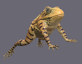 Yellow Spotted Frog 3D model realtime