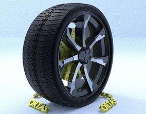 3D ORTAS CAR RIM 21 GAME READY RIM TIRE AND DISC
