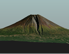 Fuji mountain low and high poly summer and low-poly 2