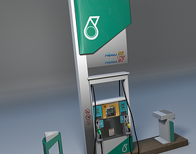 3D Petronas Fuel Dispenser Unit