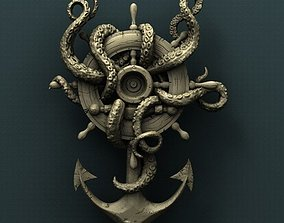 Octopus Anchor 3d stl model for CNC