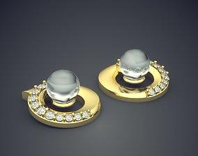 Earrings With Pearl CAD-4990 3D printable model