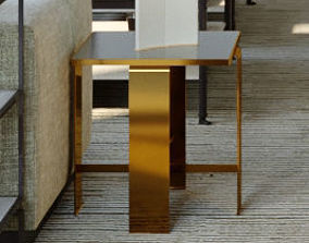 3D model coffee table bronce
