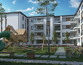 Apartment Condominium Multi Unit Block of Flats 3D model