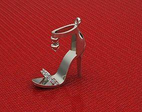 Lady Shoes Neclace 3D print model