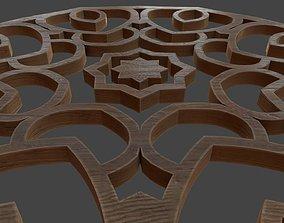 DECO-002 Wooden Deco 3D model VR / AR ready