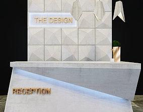 office 3D model Reception