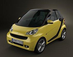 Smart ForTwo 2011 convertible openTop 3D model