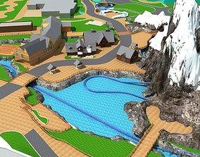 Amusement Park cityscape 3D model